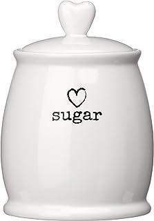 Premier Housewares Charm Sugar Canister - White