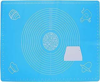 AILANDA 1 tapis à rouler 70 x 50 cm antiadhésif, tapis à pâtisserie avec mesures - Tapis de pétrissage pour pâte à sucre, ...