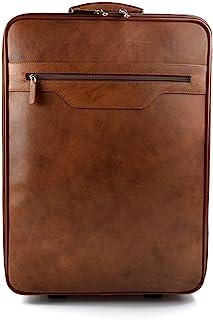 Trolley rigido pelle borsa pelle borsa viaggio borsa valigia pelle cabina bagaglio a mano uomo donna borsone aereo marrone