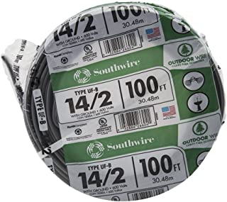 Southwire 13054226 14/2WG UF Wire 100-Foot, Approved for Direct Burial Wiring