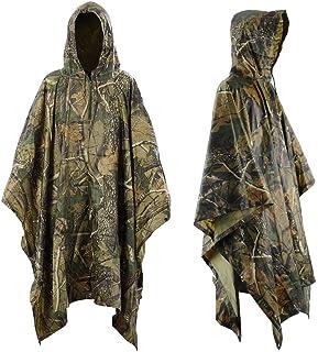 Infreecs Waterproof Rain Cape Raincoat, Rain Poncho for outdoor Camping Military cycling traveling, Hooded Rainwear with E...