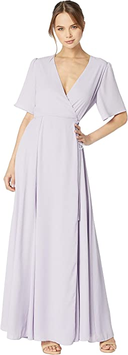 The Aurelia Short Sleeve Wrap Gown