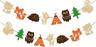 Yaaaaasss! Woodland Creatures Banner Forest Animal Friends Felt Garland Baby Shower Decor