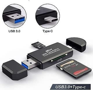 USB3.0で超高速データ転送! SDメモリー カードリーダー USBマルチカードリーダー 多機能 OTG SD/Micro SDカード両対応 Type-C/Micro usb/USB接続 Macbook Pro, MacBook 2017/2016, iMac 2017, Samsung S9/S9 Plus/S8/S8 Plus/Note 8/Note 9/Galaxy Tab S3などの機種に対応
