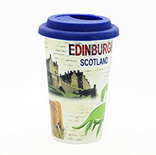 Sterling Product DWM014 Travel Double Wall Coffee Mug, Ceramic, 300 milliliters