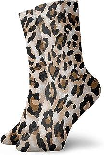 BK Creativity, Socks,Estampados De Leopardo Calcetines Estampados Calcetines Divertidos Calcetines Locos Calcetines Casuales Para Niñas Niños,30Cm