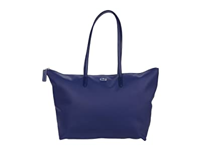 Lacoste L.12.12 Concept Large Shopping Bag (E-Mail/Atlas/Brownie/Carbon/Swell/Marmande/Star Anise) Tote Handbags