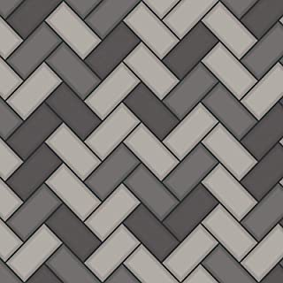 Tiling on a Roll Chevron Wallpaper - Charcoal Holden 89302