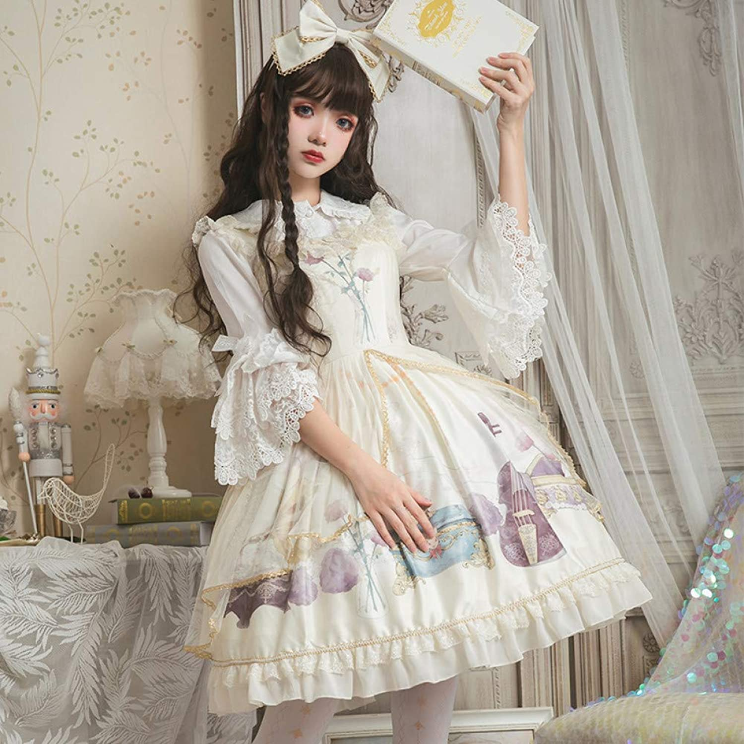 QAQBDBCKL Original Design Lolita Dress Royal Court Retro Jsk Only Suspender Dress Lolita Dress