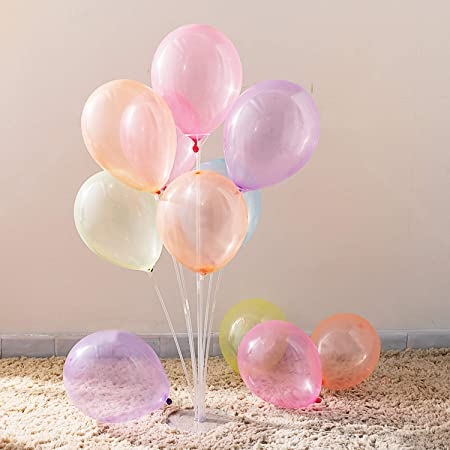 Multicolor Anagram 19 Star-Iridescent Silver Foil Balloon