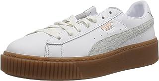 PUMA 女士 Basket 防水台 Euphoria Gum 运动鞋 Puma 白玫瑰金 8 M US