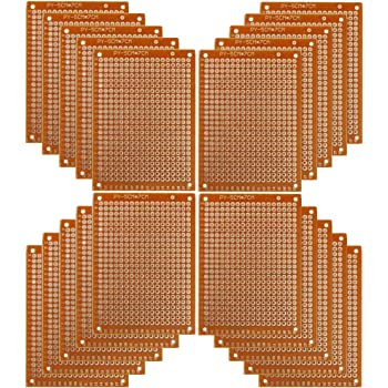 """Prototype Paper Copper PCB Circuit Board 3/"""" x 2/"""" 2 PIECES  FREE SHIPPING"""