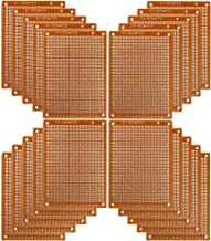 Copper Perfboard 20 PCS Paper Composite PCB Boards (5 cm x 7 cm) Universal Breadboard Single Sided Printed Circuit Board for Prototyping and Electronic Making