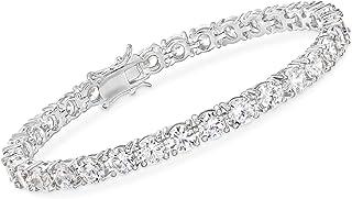 15.00-17.00 ct. t.w. CZ Tennis Bracelet in Sterling Silver