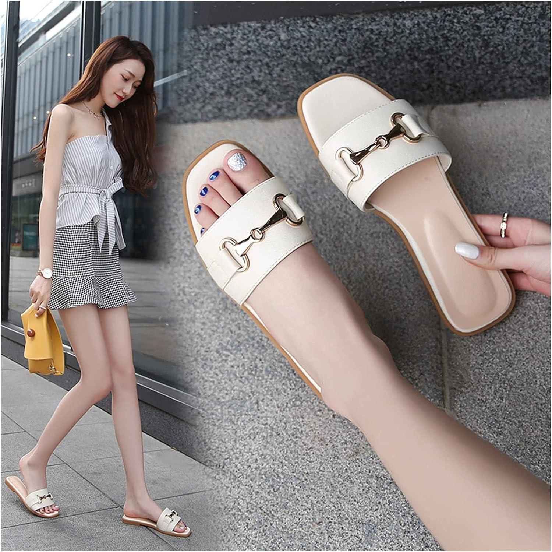 QUNHU Sandals Womens Finally popular brand Flat Slip On Summer Open 2021 autumn and winter new Toe Outdoor Beach