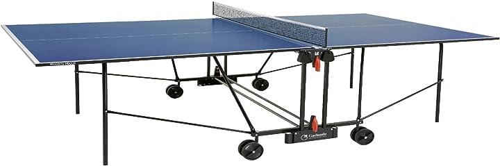 Tavolo da ping pong per uso interno garlando progress indoor blu C-163I