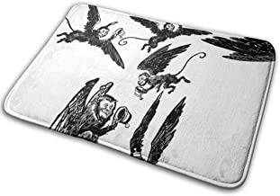 Chemibo Bathroom Rug Mat (24 X 16 Inch),Extra Soft and Absorbent Rugs, Machine Wash/Dry,Floor Mats for Tub, Shower and Bath Room Flying Monkeys Wizard of oz Bath Mat