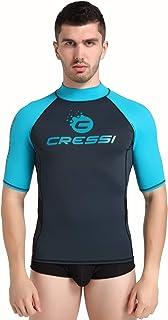 Cressi Men Hidro Rash Guard Protective Short Sleeves Jersey