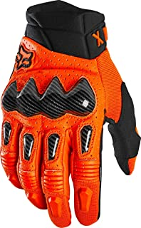 fox racing bomber gloves orange