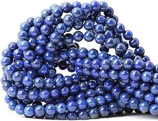 CHEAVIAN 60PCS 6mm Natural Lapis Lazuli Gemstone Round Loose Beads for Jewelry Making DIY Findings 1 Strand 15
