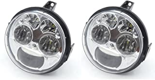 Pair Chrome 12v 4.5 inches High Low Beam LED Headlight Compatible with Kawasaki Teryx Teryx4 BRUTE FORCE 750