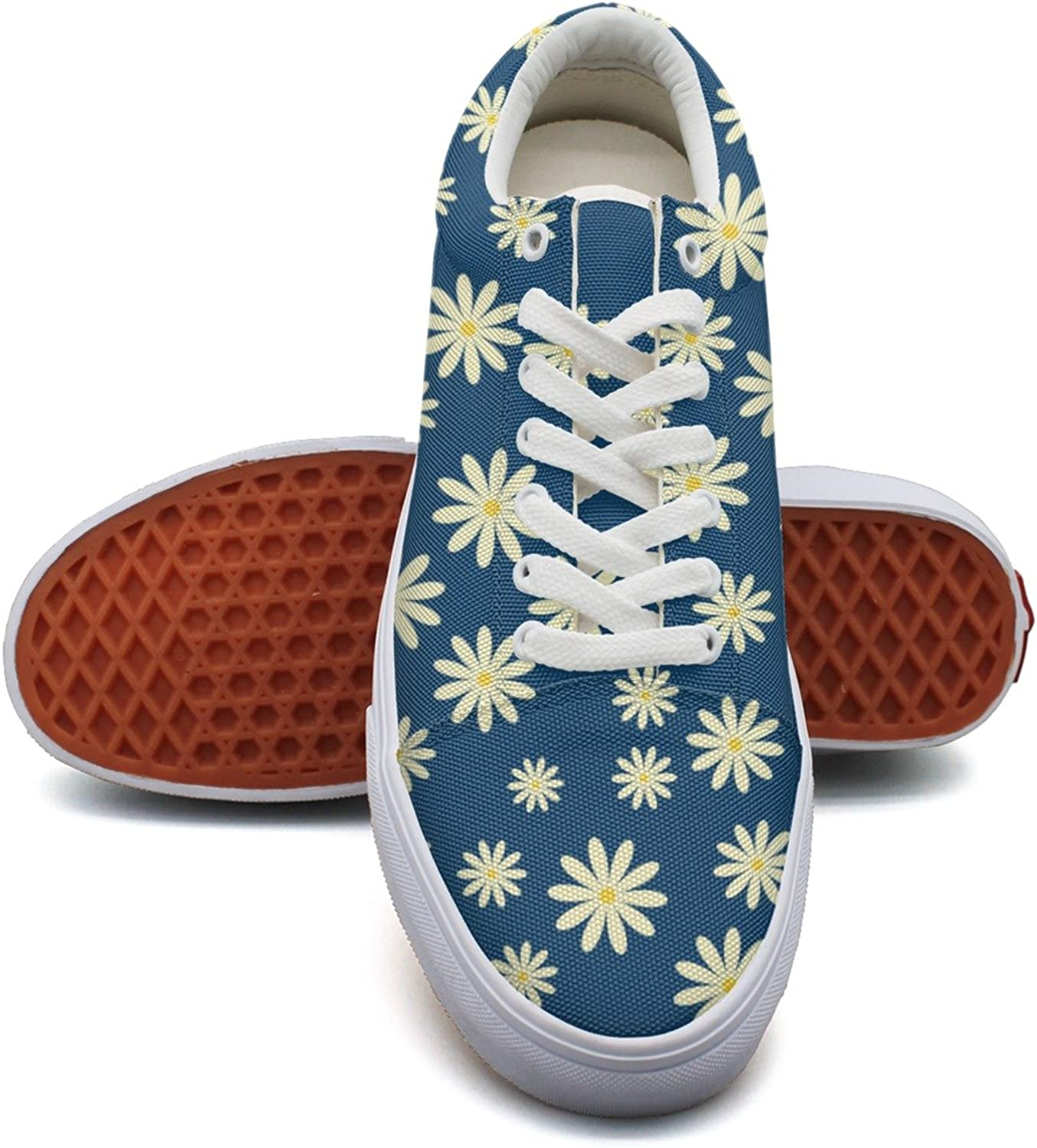 Hjkggd fgfds Casual Daisy Flower Young Women Canvas shoes