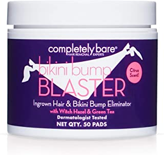Completely Bare Bikini Bump Blaster Pads- All Natural Antioxidant Witch Hazel & Green Tea Prevent Ingrown Hairs and bumps,...