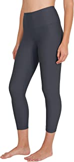 High Waist Silky Smooth and Shiny V-Back Capri Leggings