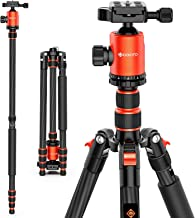 GEEKOTO 79 inches Carbon Fiber Camera Tripod Monopod with 360 Degree Ball Head 1/4 inch Quick Shoe Plate Professional Trip...