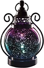 Valery Madelyn Decorative Christmas Candle Lanterns, Mercury Glass Sphere Light, Timer Function, LED Tabletop Lamps, Battery Operated Hanging Lantern for Indoor and Outdoor