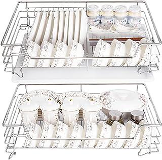 WWWFZS Organisateur d'armoire Coulissant, tiroir de Rangement Coulissant sous l'évier amenagement Placard de Cuisine<br>(C...