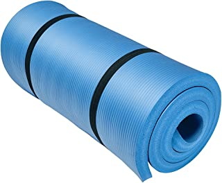 """Easthills Fitness 71"""" x 24"""" Extra Thick 1 Inch(30mm) Yoga and Exercise Mat with Elastic Strap for Gym, Workout, Physical Therapy, Pilates."""