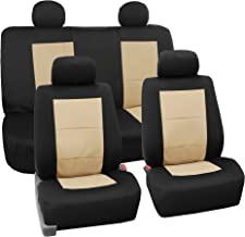 FH Group FH-FB085114 EVA Foam Premium Waterproof Car Seat Covers Beige- Fit Most Car, Truck, SUV, or Van