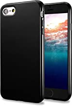 TENOC Case Compatible for Apple iPhone 6 Plus and iPhone 6S Plus 5.5 Inch, Slim Fit Soft TPU Cover Glossy Finish Coating Full Protective Bumper Black