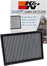 K&N VF2027 Washable & Reusable Cabin Air Filter Cleans and Freshens Incoming Air for your Chrysler, Dodge