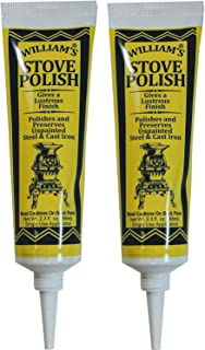 Williams Black Wood Stove Polish Paste for Cast Iron (2-Pack)