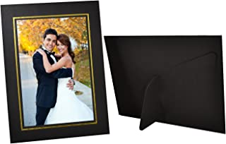 Golden State Art,Pack of 25 Black 4x6 Picture Frames Made of Paper, Easel Stand for Photography Disply,Cardboard Frames/Paper Frames,Great for Portraits and Photos,Special Events: Graduation,Weddings