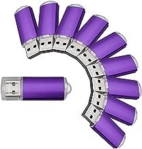 VICFUN 10pcs 8GB USB Flash Drive 8G USB 2.0 Metal USB Drive Thumb Stick Purple