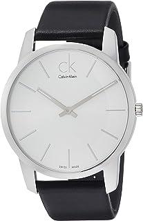 Calvin Klein Men's Quartz Watch, Analog Display and Leather Strap K2G211C6