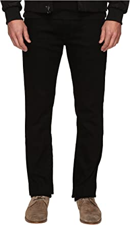Slim Straight Jeans in Clean Black Wash