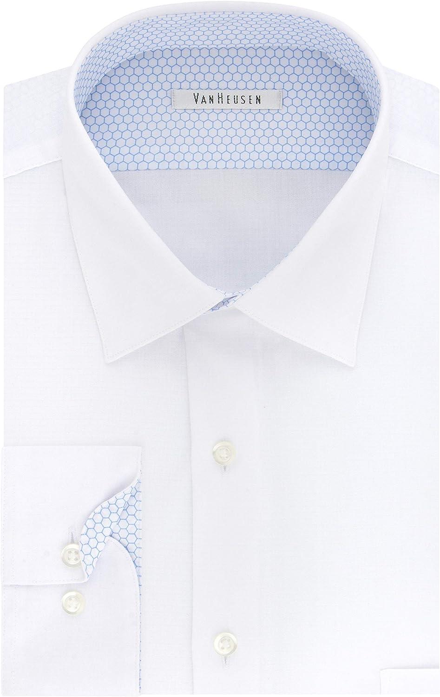 Van Heusen Men's Air Regular Fit Solid Spread Collar Dress Shirt