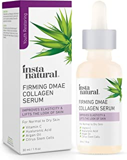 Collagen Serum For Face & Neck with DMAE, Vitamin C, Hyaluronic Acid & Argan Oil - Advanced Anti Aging Facial Firming Seru...