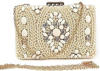 Lanbinxiang @ Golden String Jewelry Stone Diamond Trend Luxury Banquet Clutch Bag Wedding Dress Bag Gift Chain Shoulder Messenger Bag Handbag Size: 18 * 5 * 11cm (Color : Gold)