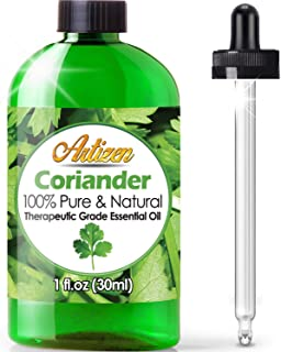 Artizen Coriander Essential Oil (100% PURE & NATURAL - UNDILUTED) Therapeutic Grade - Huge 1oz Bottle - Perfect for Aromatherapy, Relaxation, Skin Therapy & More!