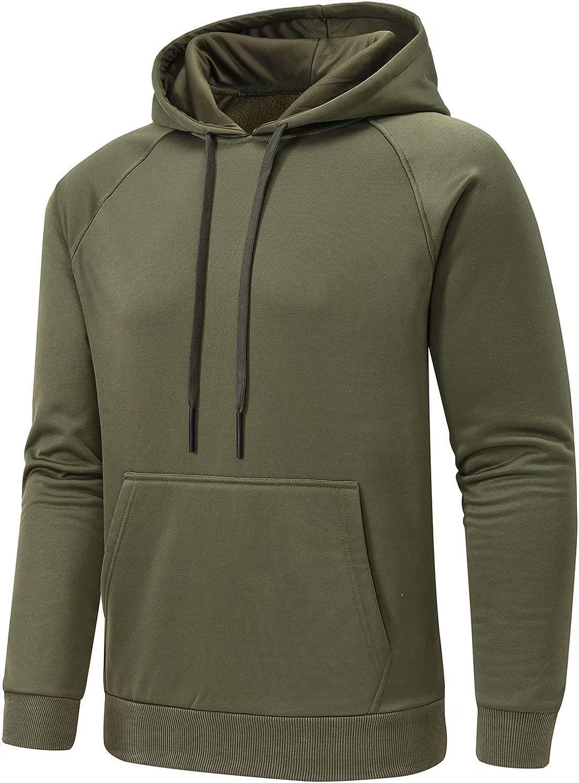 Tyhengta Mens Casual Hoodies Pullover Fleece Hooded Sweatshirt with Kanga Pocket