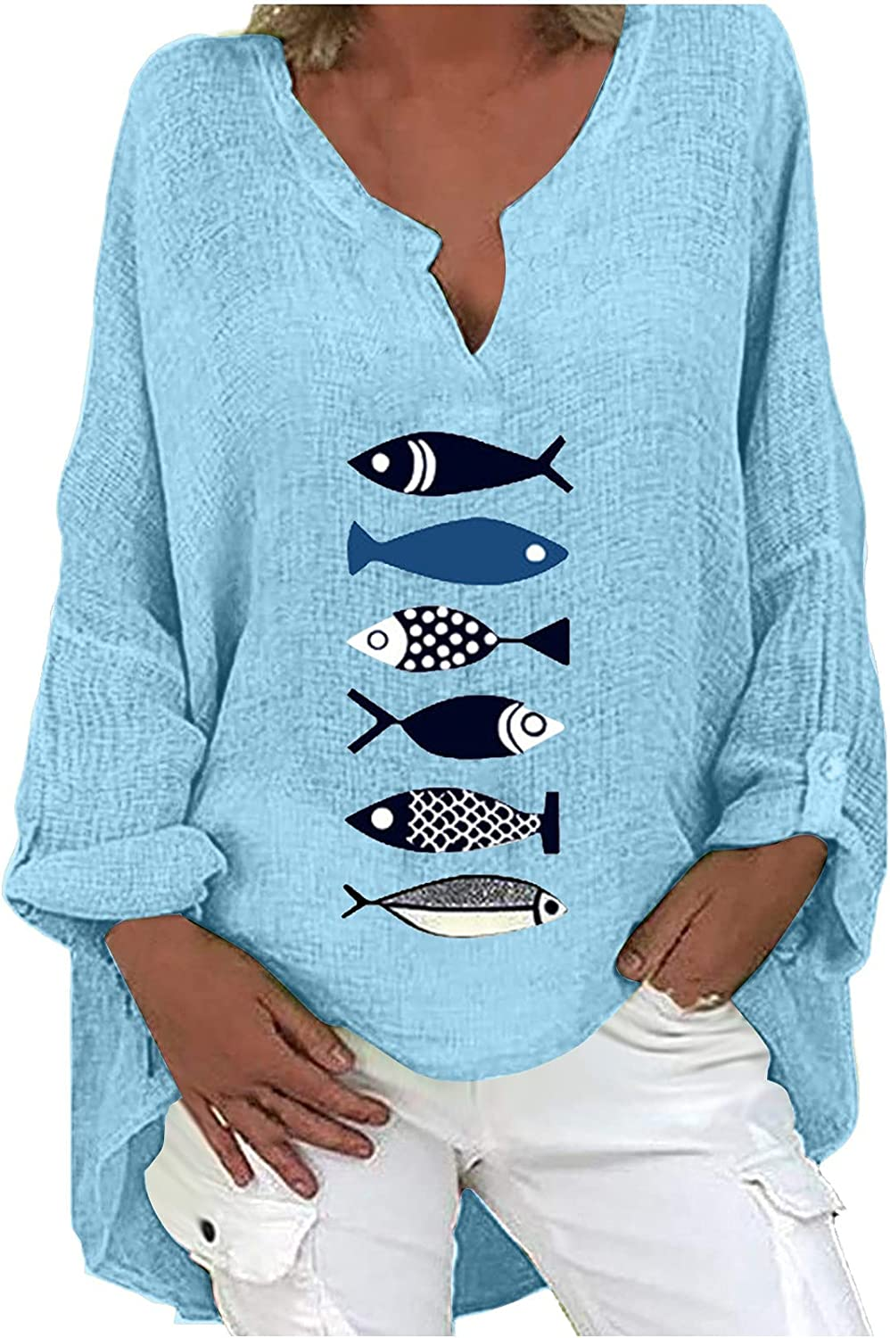 Women Plus Size Cute Graphic Challenge the lowest price Tops Loose Printing Casual Tunic Lo Over item handling