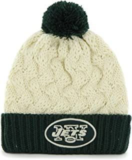 '47 Brand Women's Cuff Matterhorn Beanie Hat with POM POM - NFL Ladies Cuffed Crochet Knit Toque Cap