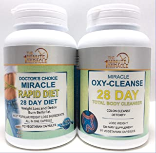 Miracle Rapid Diet 28 Day Diet - Weight Loss and Colon Cleanser - Keto Diet Pills and Fat Burner