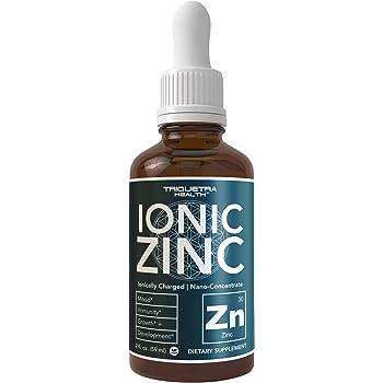 Liquid Ionic Zinc Sulfate | Ultra-Concentrate, Vegan, Glass Bottle | 236 Servings, Highest Concentration of Ionic Zinc per Bottle | Immunity, Brain, Thyroid Support (2 oz.)