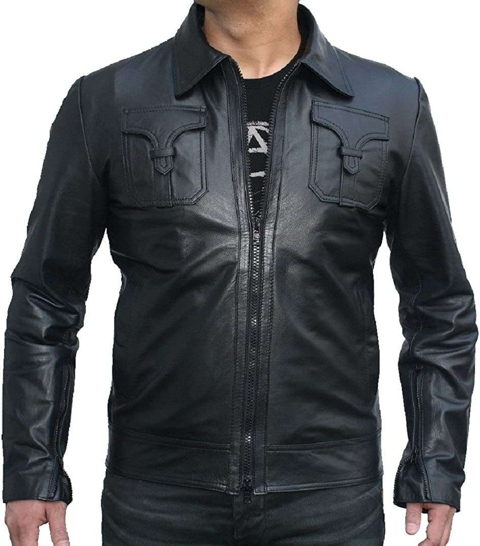 Classyak Men Fashion Original Sheep Leather Jacket Black Mamba